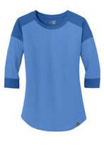 Load image into Gallery viewer, New Era  Ladies Heritage Blend 3/4-Sleeve Baseball Raglan Tee. LNEA104