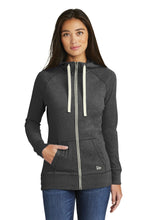 Load image into Gallery viewer, New Era  Ladies Sueded Cotton Blend Full-Zip Hoodie. LNEA122
