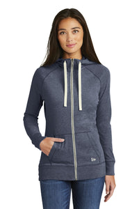 New Era  Ladies Sueded Cotton Blend Full-Zip Hoodie. LNEA122