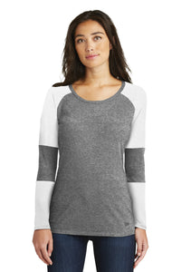 New Era  Ladies Tri-Blend Performance Baseball Tee. LNEA132