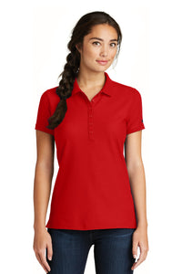 New Era  Ladies Venue Home Plate Polo. LNEA300