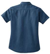 Load image into Gallery viewer, Port & Company - Ladies Short Sleeve Value Denim Shirt.  LSP11