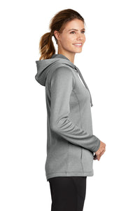 Sport-Tek  Ladies PosiCharge  Sport-Wick  Heather Fleece Hooded Pullover. LST264