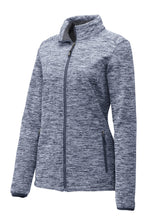 Load image into Gallery viewer, Sport-Tek Ladies PosiCharge Electric Heather Soft Shell Jacket. LST30