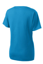 Load image into Gallery viewer, Sport-Tek Ladies PosiCharge RacerMesh V-Neck Tee. LST340