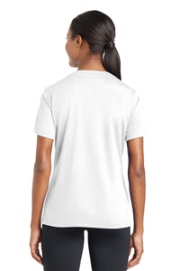 Sport-Tek Ladies PosiCharge RacerMesh V-Neck Tee. LST340
