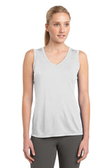 Sport-Tek Ladies Sleeveless PosiCharge Competitor V-Neck Tee. LST352