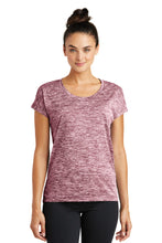 Load image into Gallery viewer, Sport-Tek Ladies PosiCharge Electric Heather Sporty Tee. LST390