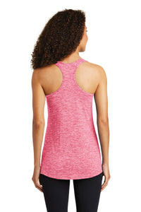 Sport-Tek  Ladies PosiCharge  Electric Heather Racerback Tank. LST396