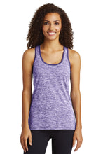 Load image into Gallery viewer, Sport-Tek  Ladies PosiCharge  Electric Heather Racerback Tank. LST396