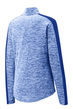Load image into Gallery viewer, Sport-Tek Ladies PosiCharge Electric Heather Colorblock 1/4-Zip Pullover. LST397