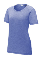 Load image into Gallery viewer, Sport-Tek  Ladies PosiCharge  Tri-Blend Wicking Scoop Neck Raglan Tee. LST400