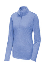 Load image into Gallery viewer, Sport-Tek  Ladies PosiCharge  Tri-Blend Wicking 1/4-Zip Pullover. LST407
