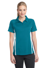 Load image into Gallery viewer, Sport-Tek Ladies PosiCharge Micro-Mesh Colorblock Polo. LST685