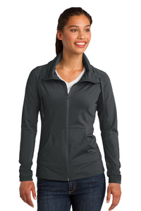 Sport-Tek Ladies Sport-Wick Stretch Full-Zip Jacket. LST852