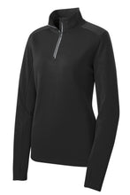 Load image into Gallery viewer, Sport-Tek Ladies Sport-Wick Textured 1/4-Zip Pullover.  LST860