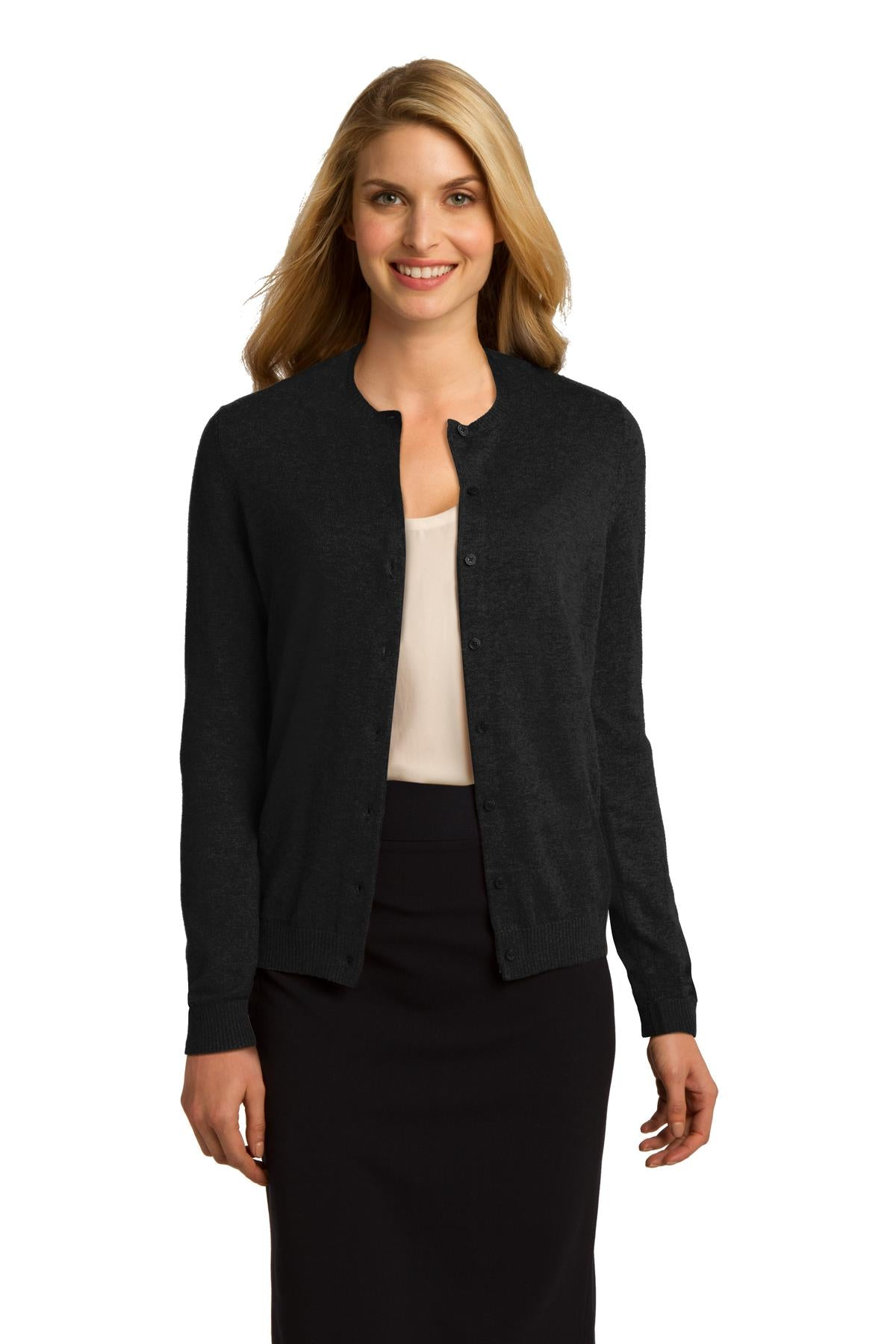 Port Authority Ladies Cardigan Sweater. LSW287