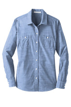 Load image into Gallery viewer, Port Authority Ladies Slub Chambray Shirt. LW380