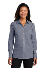 Load image into Gallery viewer, Port Authority  Ladies Broadcloth Gingham Easy Care Shirt LW644