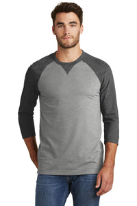 New Era  Sueded Cotton Blend 3/4-Sleeve Baseball Raglan Tee. NEA121