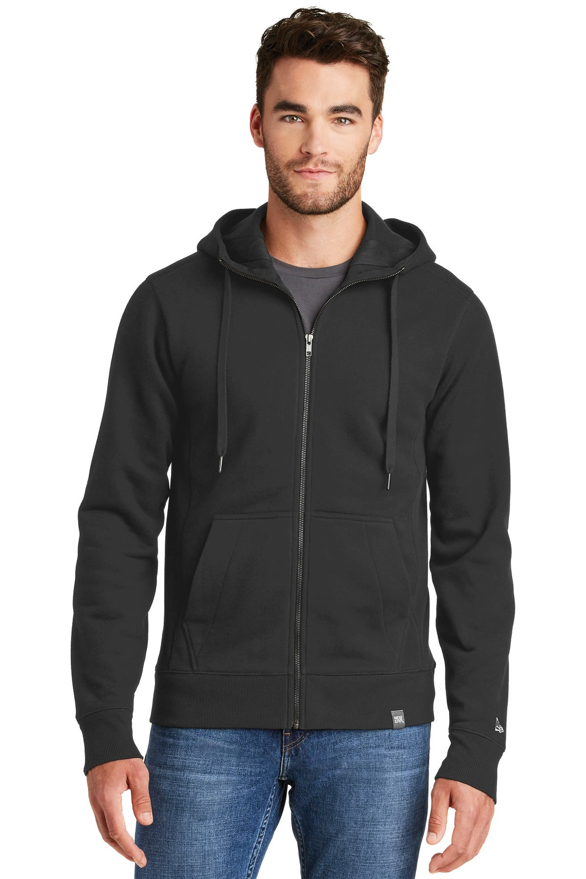 New Era  French Terry Full-Zip Hoodie. NEA502