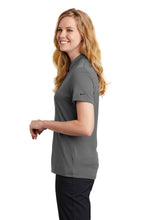 Load image into Gallery viewer, Nike Ladies Dri-FIT Hex Textured V-Neck Top. NKAA1848