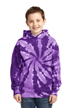 Load image into Gallery viewer, Port & Company Youth Tie-Dye Pullover Hooded Sweatshirt. PC146Y