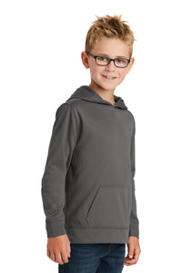 Port & CompanyYouth Performance Fleece Pullover Hooded Sweatshirt. PC590YH