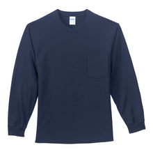 Load image into Gallery viewer, Port & Company Tall Long Sleeve Essential Pocket Tee. PC61LSPT