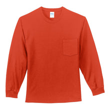 Load image into Gallery viewer, Port & Company - Long Sleeve Essential Pocket Tee.  PC61LSP