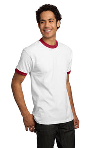 CLOSEOUT Port & Company - Ringer T-Shirt.  PC61R