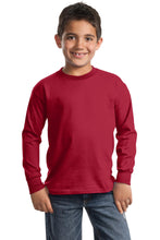 Load image into Gallery viewer, CLOSEOUT Port & Company - Youth Long Sleeve Essential Tee. PC61YLS