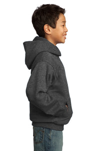 Port & Company - Youth Core Fleece Pullover Hooded Sweatshirt.  PC90YH