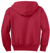 Load image into Gallery viewer, Port & Company - Youth Core Fleece Full-Zip Hooded Sweatshirt.  PC90YZH