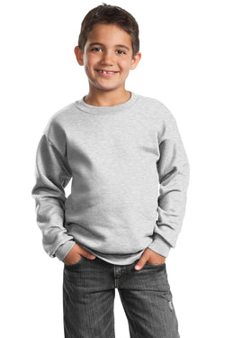 Port & Company® - Youth Core Fleece Crewneck Sweatshirt.  PC90Y