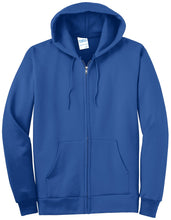 Load image into Gallery viewer, Port & Company Tall Essential Fleece Full-Zip Hooded Sweatshirt. PC90ZHT