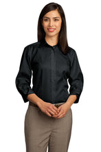 Load image into Gallery viewer, CLOSEOUT Red House - Ladies 3/4-Sleeve Dobby Non-Iron Button-Down Shirt. RH61
