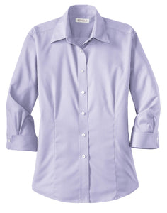 CLOSEOUT Red House - Ladies 3/4-Sleeve Dobby Non-Iron Button-Down Shirt. RH61
