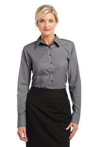 CLOSEOUT Red House - Ladies Stripe Non-Iron Pinpoint Oxford. RH65