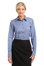 Load image into Gallery viewer, CLOSEOUT Red House - Ladies Stripe Non-Iron Pinpoint Oxford. RH65