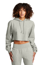Load image into Gallery viewer, Champion   Women's Reverse Weave   Cropped Cut-Off Hooded Sweatshirt RW01W