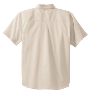 CLOSEOUT Port Authority Short Sleeve Easy Care  Soil Resistant Shirt.  S507
