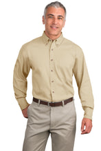 Load image into Gallery viewer, Port Authority Tall Long Sleeve Twill Shirt.  TLS600T