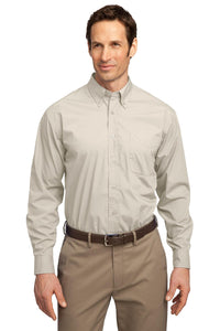 CLOSEOUT Port Authority Long Sleeve Easy Care  Soil Resistant Shirt.  S607