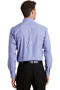 Port Authority Long Sleeve Gingham Easy Care Shirt. S654