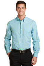 Load image into Gallery viewer, Port Authority Long Sleeve Gingham Easy Care Shirt. S654