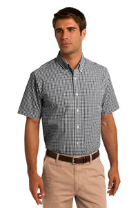 CLOSEOUT Port Authority Short Sleeve Gingham Easy Care Shirt. S655
