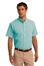 Load image into Gallery viewer, CLOSEOUT Port Authority Short Sleeve Gingham Easy Care Shirt. S655