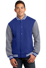Load image into Gallery viewer, Sport-Tek Fleece Letterman Jacket. ST270