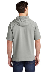 Sport-Tek  PosiCharge  Tri-Blend Wicking Fleece Short Sleeve Hooded Pullover ST297